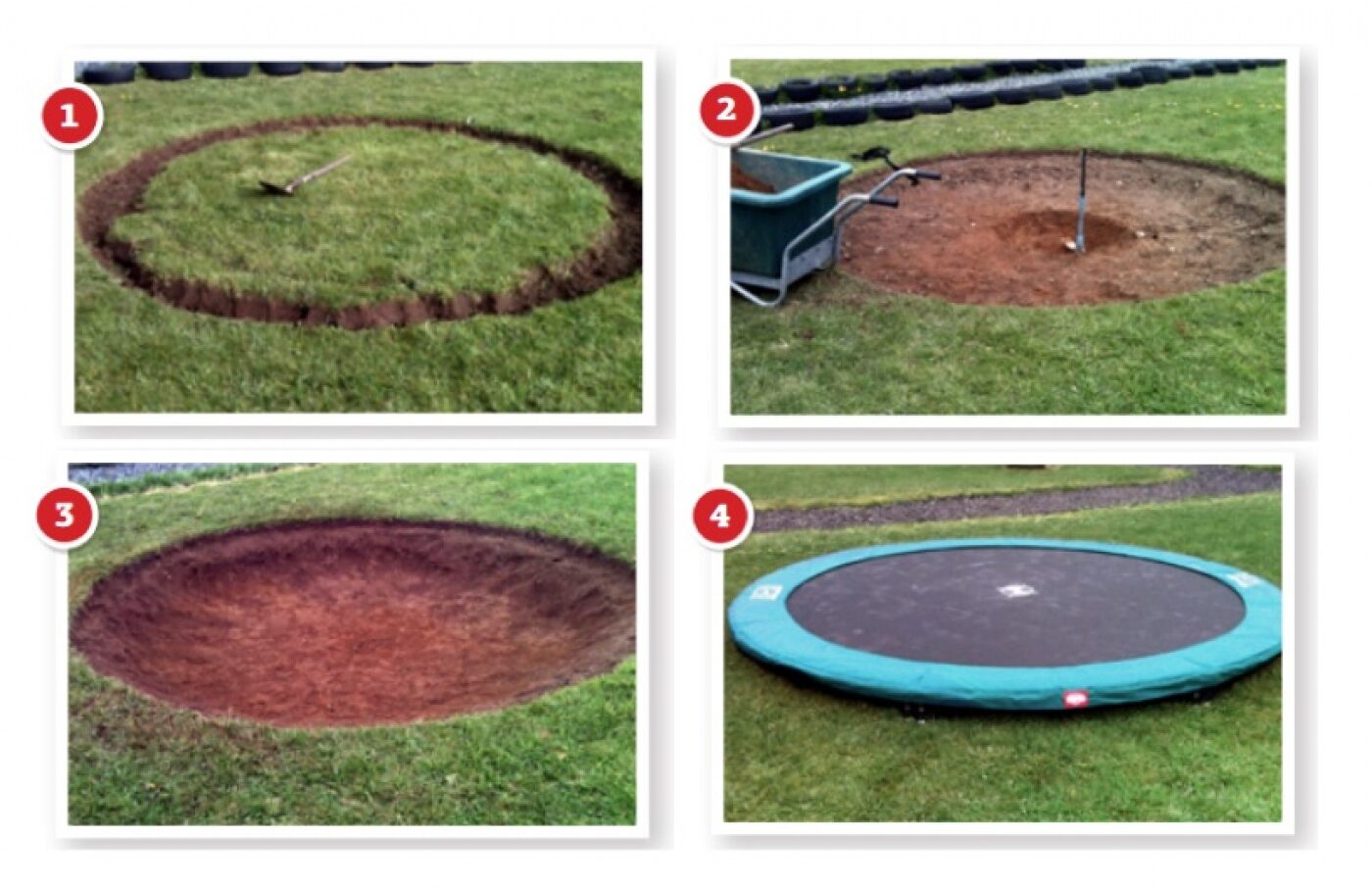 trampolin nedgravet