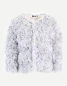 Billig faux fur jakke